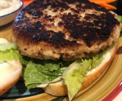 Leftover Chicken Burgers - Using Leftover Cooked Chicken