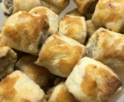 Sausage rolls with rosemary, fennel and parmesan