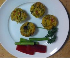 Gluten Free, Dairy Free Mini Vegetable Muffins
