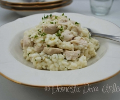 Creamy Garlic Chicken Risotto