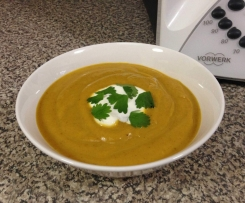 Roast Sweet Potato and Cauliflower Soup