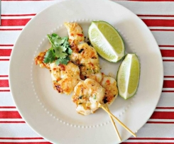 Asian Style Prawns on Skewers