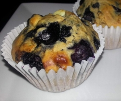 Blueberry and White Choc Chip Muffins