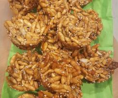 Brown rice puff snack