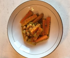 Moroccan Carrots & Chickpea Tagine