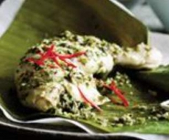 Chicken, Lime and Coconut Parcels