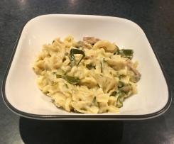 Chicken Fusilli in creamy white wine sauce