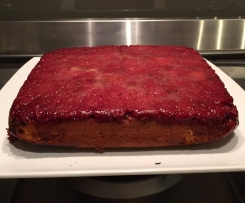 Upside down Raspberry and Almond  Cake - Donna Hay