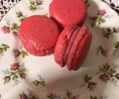 Macarons with White Chocolate and Raspberry Ganache