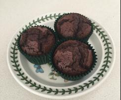 Chocolate and mixed berry muffins