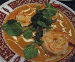 Prawns with sauce Bisque