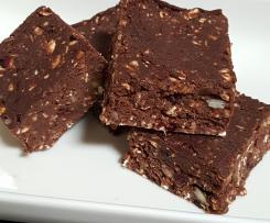 Hunters Chocolate Cranberry Protein Slice (No Bake, vegan)
