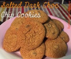 Salted Dark Choc Chip Cookies