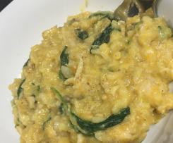 CREAMY SWEET POTATO SECRET RISOTTO spinach mushrooms parmesan