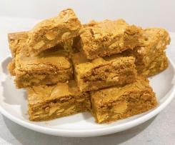 Biscoff Blondies with Caramilk Choc Chips
