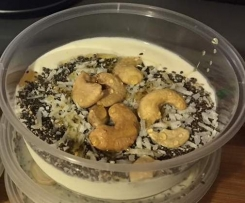 Vanilla and chia yoghurt pot