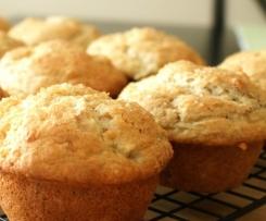 Apple, Pear and Cinnamon muffins (vegan, egg-free, dairy-free)