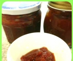 sweet spicy honey tomato jam (foodinajar)