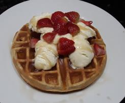 Keto fluffy sweet waffles