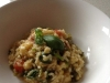 Broccollini, basil, tomato & bacon Risotto for 2
