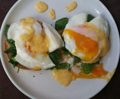 Eggs Florentine for One