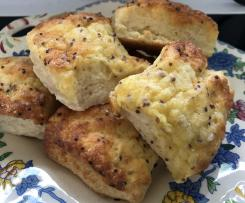 Easy Cheesey topped Scones