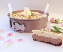 Chocolate rosewater cheesecake