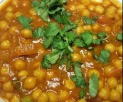Paraati Chana - Indian chickpeas with split peas (vegan, dairy-free, gluten-free, egg-free)