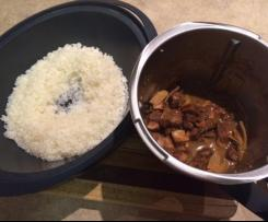 Braised pork with bamboo shoots and sticky rice