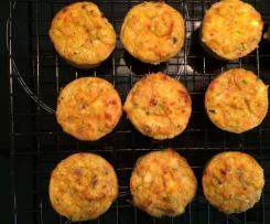 Sweet Potato, Zucchini & Feta Mini Muffins