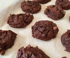 Choc Peppermint Fudgey Bean Biscuits- Egg, gluten and nut free.