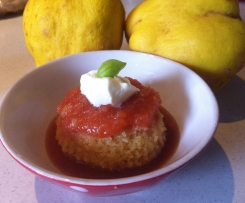 Quince & Cardamom Steamed Puddings