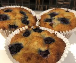 Lemon & Blueberry Muffins (Paleo)
