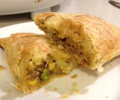Lamb and vegetable Pastie