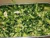 Kale, broccoli and almond salad