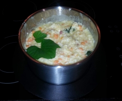 Chicken, ham and sweet potato risotto