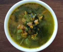 Kale, Carrot and Chickpea Soup