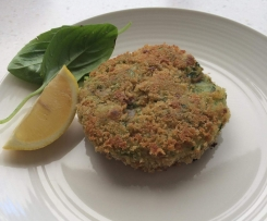 tuna & kale potato cakes