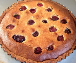 Frangipani ( Almond ) Tart with Cherries