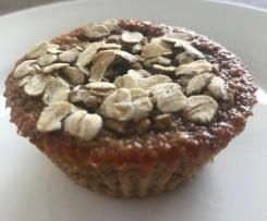 Healthy Oat Muffins (No Flour No Sugar No Oil)