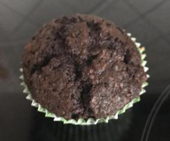 Chocolate Zucchini & Walnut Muffin