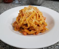 Creamy Fettuccini with Tuna