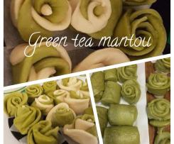 Green Tea Mantou (Steam Bread - Mantou)