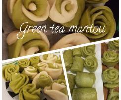 Green Tea Mantou (Steam Bread - Mantou)