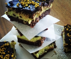 Avocado Mint Cream Brownie Bar