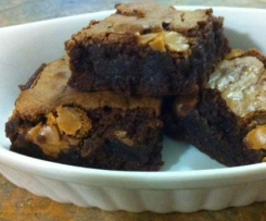 Gluten Free Salted Caramel Choc-Fudge Brownies