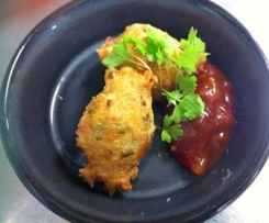 crab and chive beignets