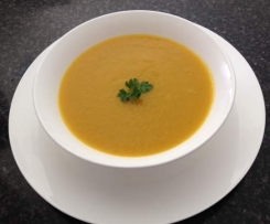 Pumpkin, Sweet Potato and Leek Soup