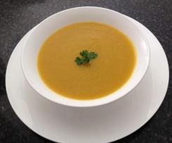 Pumpkin, Sweet Potato and Leek Soup