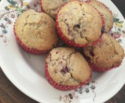 Wholesome Raspberry and Coconut Muffins